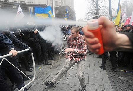 Protestan en Ucrania contra la renuncia al acuerdo con la Unión Europea - ảnh 1