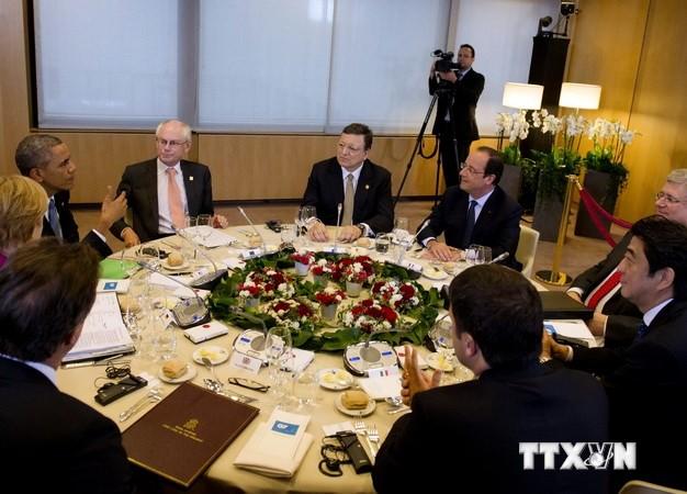 G-7 se compromete a apoyar a Ucrania e impulsar la cooperación intercomunitaria - ảnh 1