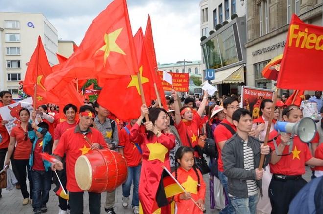 Vietnamitas en Alemania marchan en protesta contra acciones chinas en Mar Oriental - ảnh 1