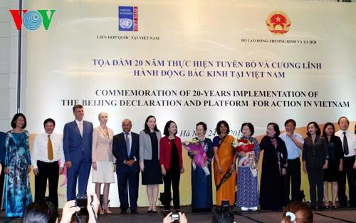 Celebra Vietnam 20 años del cumplimiento de Declaración y Plataforma de Acción de Beijing - ảnh 1