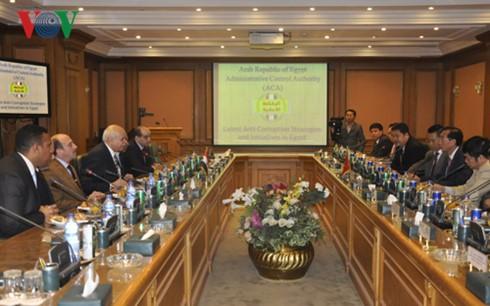 Vietnam y Egipto fomentan cooperación en inspección gubernamental  - ảnh 1