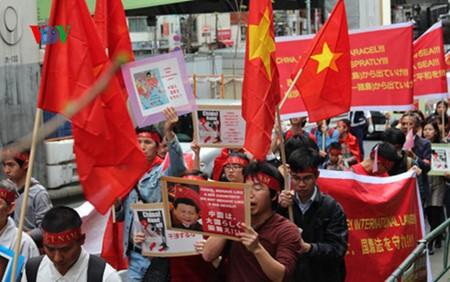 Vietnamitas en Japón protestan contra acciones ilegales de China en Mar Oriental - ảnh 1