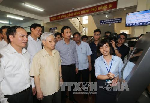 Secretario general del PCV visita y trabaja en Quang Ninh - ảnh 1