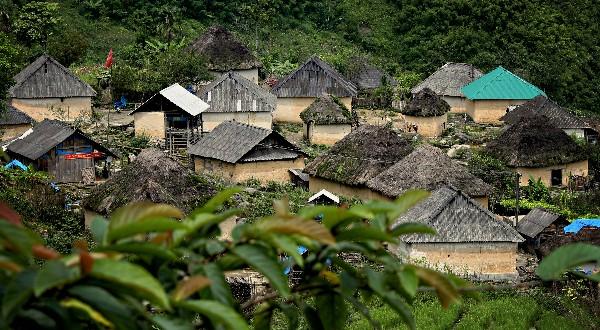 Casa tradicional de la etnia Ha Nhi - ảnh 3