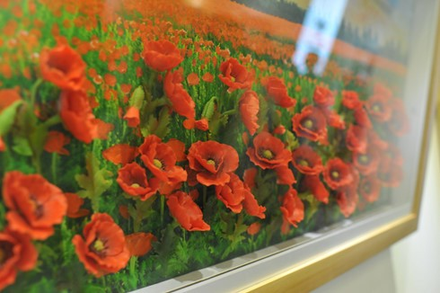 """Inaugurada exposición """"Pinturas de Flor de tierra Vietnam – Corea del Sur""""  - ảnh 2"""