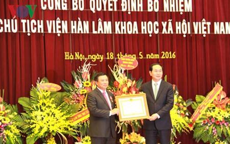 Presidente vietnamita intercambia con científicos nacionales - ảnh 1
