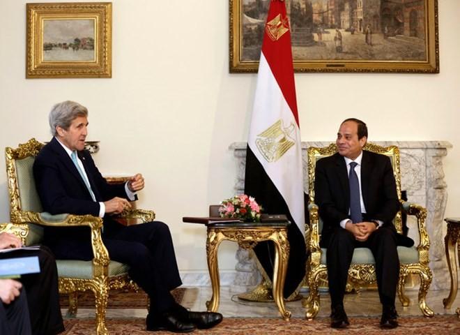 Secretario de Estado de Estados Unidos visita Egipto para promover la paz de Oriente Medio - ảnh 1