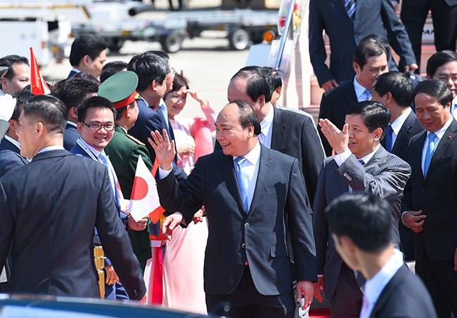 Primer ministro de Vietnam inicia agenda de trabajo en Japón - ảnh 1