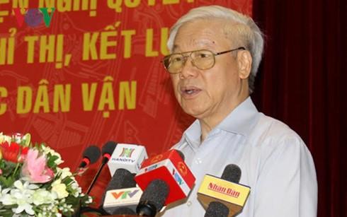 Reconocen aportes de la movilización de masas en Vietnam - ảnh 1