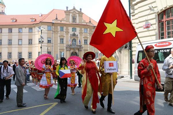Cultura vietnamita resalta en Festival de los grupos minoritarios de República Checa - ảnh 1