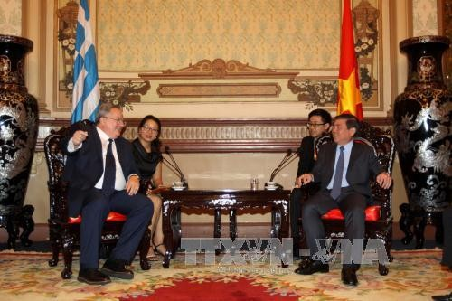 Ciudad Ho Chi Minh facilita entrada de empresas griegas - ảnh 1