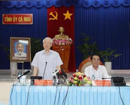 Líder partidista pide promover economía marítima en Ca Mau - ảnh 1