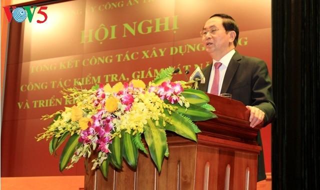 Presidente vietnamita da orientaciones para fortalecimiento de las fuerzas de seguridad pública - ảnh 1