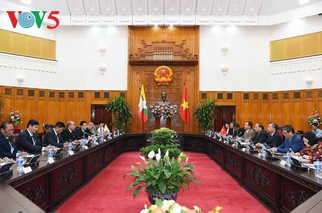 Presidente birmano finaliza visita a Vietnam - ảnh 1