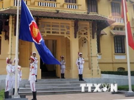 Exhibición del arte en saludo al aniversario de la fundación de la Asean - ảnh 1
