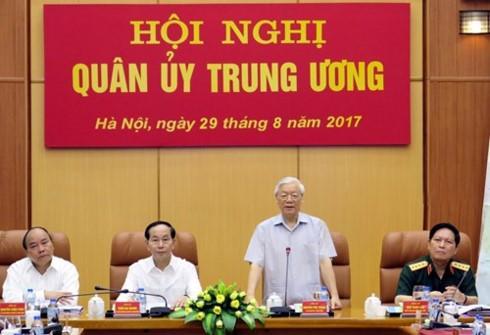 Revisan el trabajo de la Comisión Militar Central de Vietnam - ảnh 1