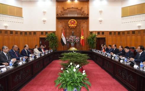 Egipto interesado en ampliar la cooperacion multisectorial con Vietnam  - ảnh 1