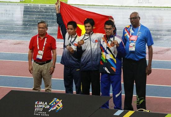 Vietnam ocupa la cuarta posición de la clasificación de ASEAN Para Games 9 - ảnh 1