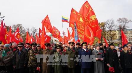 Siguen celebrando el centenario aniversario de la Revolución de Octubre en Rusia - ảnh 1