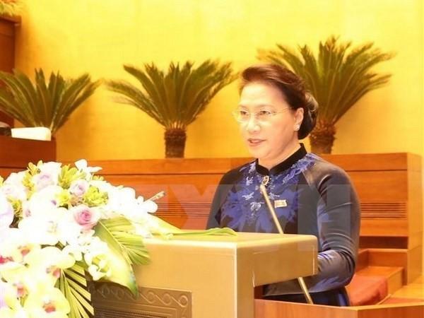 La líder parlamentaria de Vietnam visitará Singapur y Australia  - ảnh 1