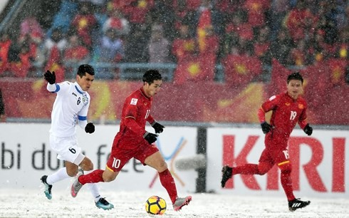Sub-23 de fútbol de Vietnam impresiona a medios internacionales  - ảnh 1
