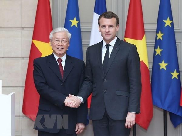 Resaltan logros de las visitas del líder partidista vietnamita a Cuba y Francia  - ảnh 2