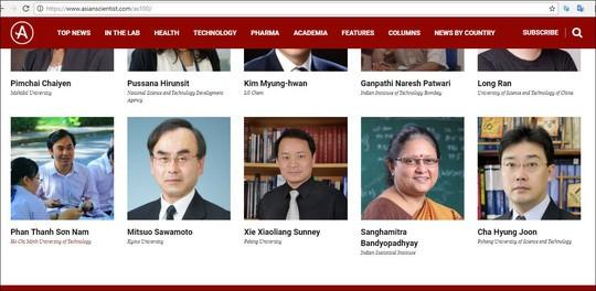 Intelectuales vietnamitas incluidos en la lista de los 100 científicos asiáticos 2018 - ảnh 1