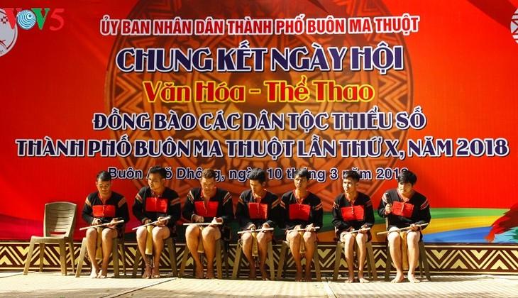 Jóvenes entusiasmados con la preservación del legado cultural de la etnia Ede - ảnh 1