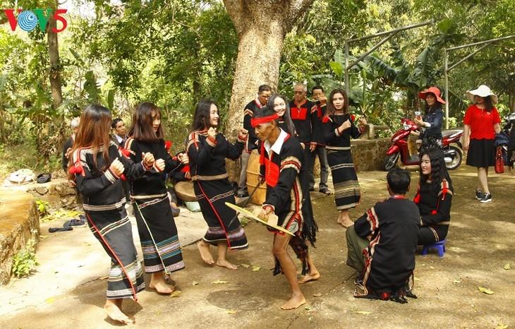 Jóvenes entusiasmados con la preservación del legado cultural de la etnia Ede - ảnh 2