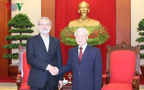 Líder vietnamita reafirma voluntad nacional de fortalecer lazos con Irán - ảnh 1
