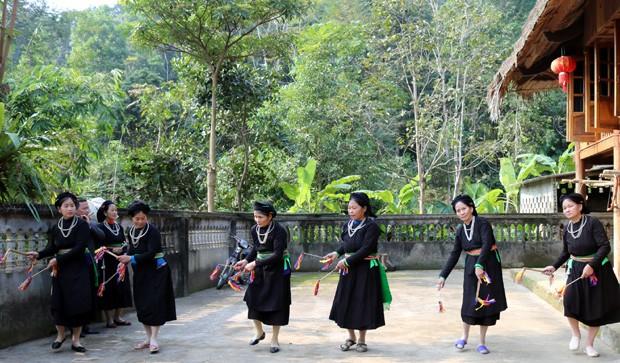 La rica cultura de la etnia Tay, en la provincia de Ha Giang - ảnh 1