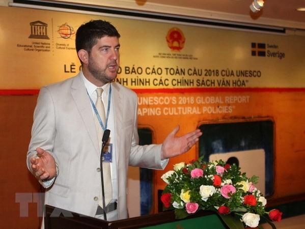 Divulgan en Hanói el informe global de la Unesco sobre reconfiguración de las políticas de cultura - ảnh 1
