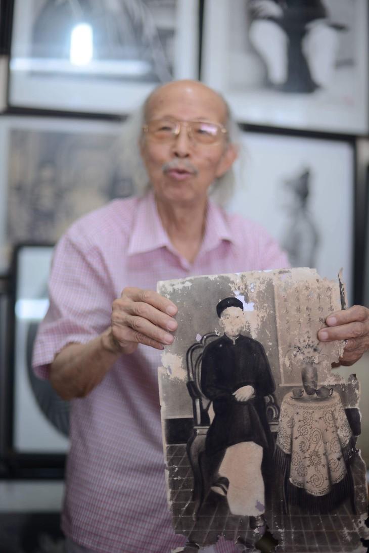 """El retratista de """"ve truyen than"""" con cerca de seis décadas en el trabajo - ảnh 4"""