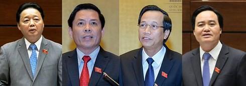Cuatro ministros comparecerán en sesiones parlamentarias de interpelación de Vietnam - ảnh 1