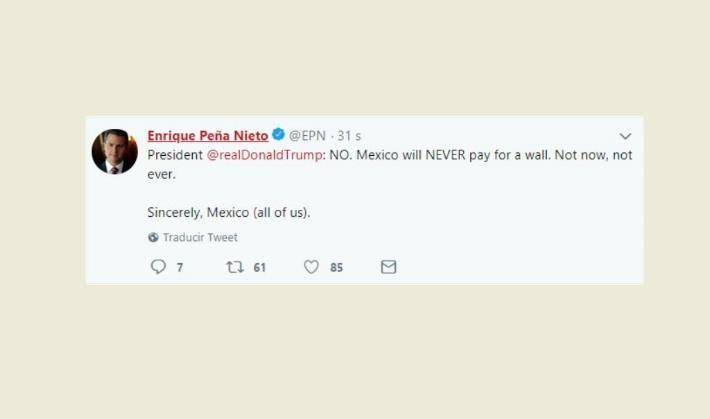 México nunca pagará por el muro en la frontera con Estados Unidos, según Peña Nieto - ảnh 1