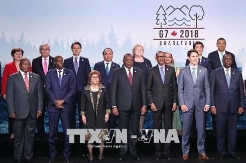 Premier vietnamita interviene en Cumbre ampliada del G7 - ảnh 1