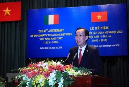 Celebran en Ciudad Ho Chi Minh 45 aniversario de las relaciones entre Vietnam e Italia - ảnh 1