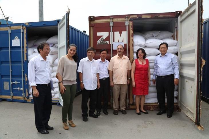 Vietnam realiza entrega oficial de una donación de 5.000 toneladas de arroz a Cuba - ảnh 1