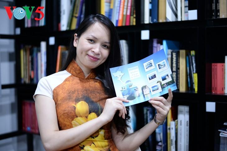 Una joven vietnamita y su iniciativa de presentar el mar y las islas patrias en el exterior - ảnh 1