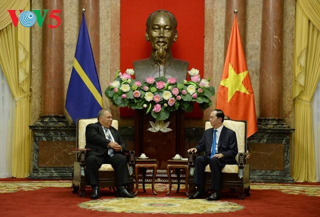 Presidente vietnamita recibe en Hanói a su homólogo de Nauru - ảnh 1