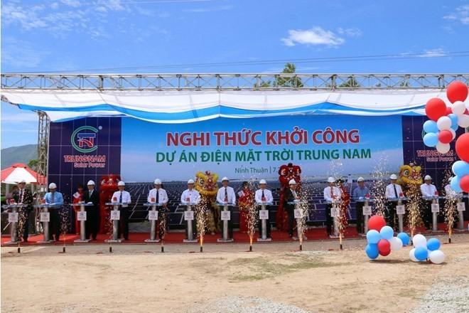 Se inicia la construcción de la mayor planta de energía solar en Vietnam - ảnh 1