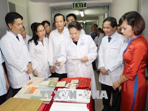 Presidenta parlamentaria de Vietnam en el Centro Nacional de Archivos - ảnh 1