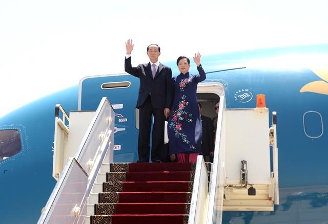 Presidente vietnamita inicia su visita a Egipto - ảnh 1