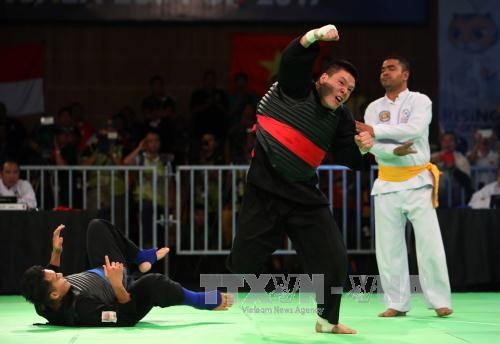Vietnam gana otras dos medallas de oro en Pencak Silat en Juegos Asiáticos - ảnh 1