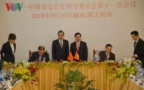 Celebran XI reunión del Comité Directivo de Cooperación  Vietnam-China - ảnh 1