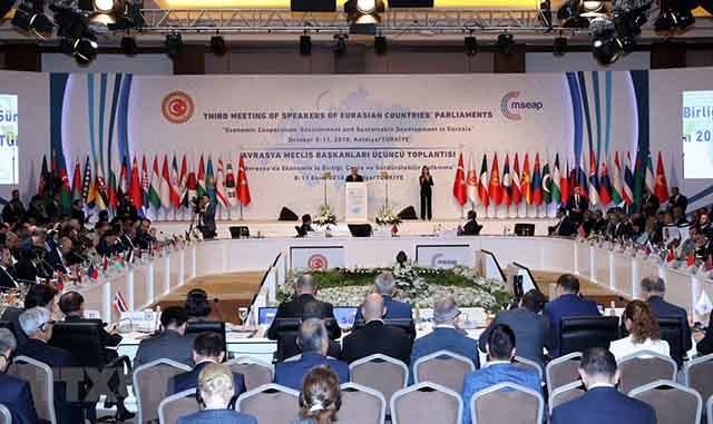 Inaugurada en Turquía tercera Conferencia de Presidentes de los Parlamentos Euroasiáticos - ảnh 1