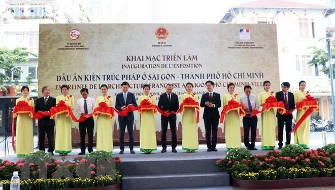 Abren exposición sobre influencias de la arquitectura francesa en Ciudad Ho Chi Minh - ảnh 1