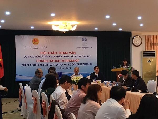 Vietnam considera incorporarse al Convenio 98 de la Organización Internacional del Trabajo - ảnh 1