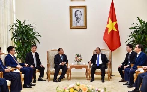 Premier vietnamita recibe al ministro de Planificación de Camboya - ảnh 1