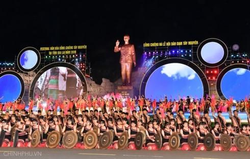 Exaltan la cultura de Tay Nguyen en festival de gongs y batintines - ảnh 1